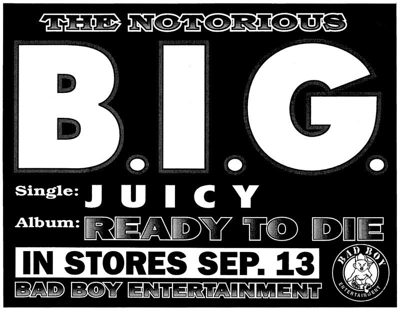 B.I.G. Promo Sticker 1994
